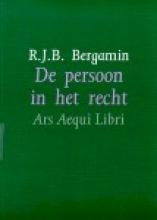 R.J.B. Bergamin , De persoon in het recht