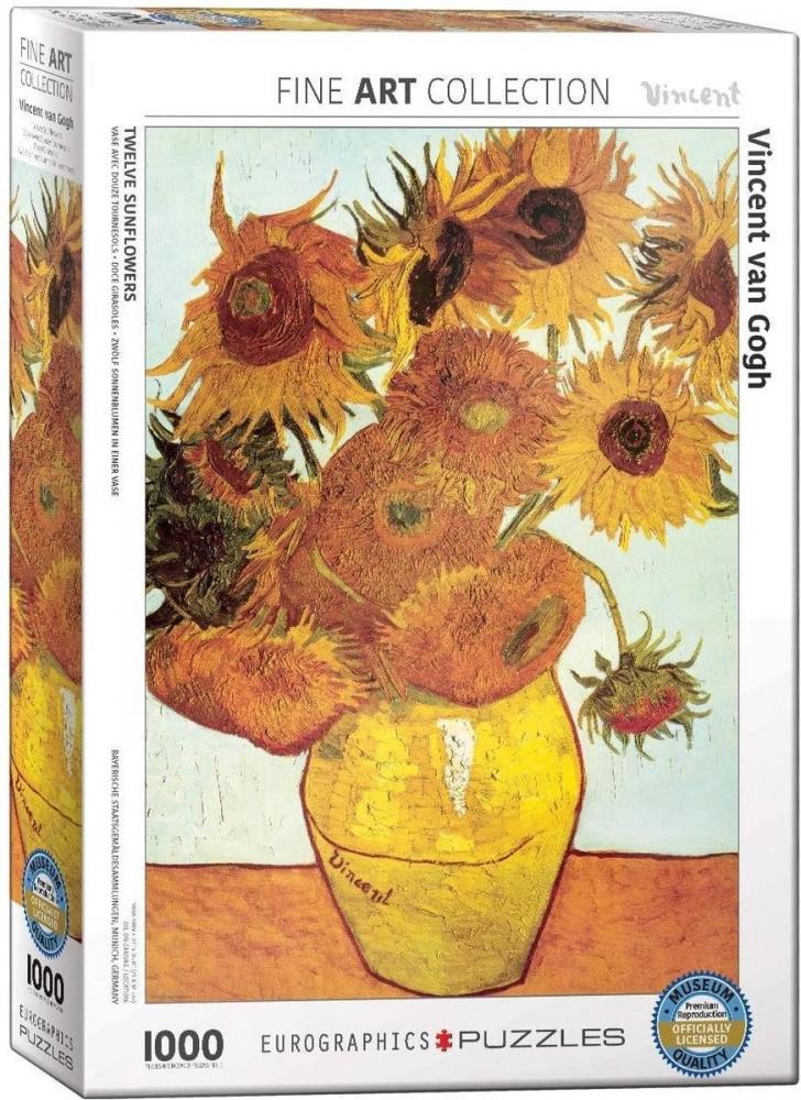 Eur-6000-3688,Puzzel twelve sunflowers- vincent van gogh - 1000 stuks
