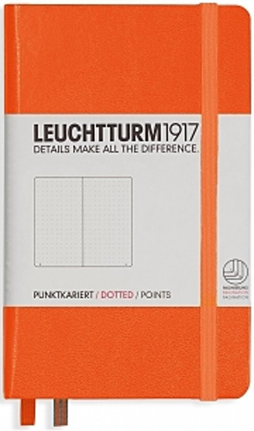 Lt342933,Leuchtturm notitieboek pocket 90x150 dots  / bullets oranje