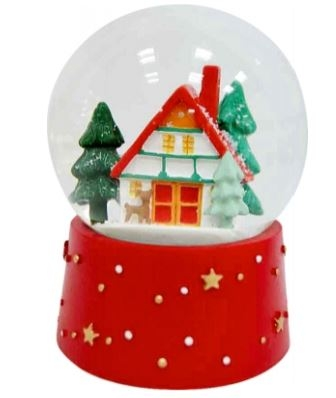 ,Glazen kerst sneeuwbol