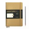 <b>Lt361856</b>,Leuchtturm weekagenda & notitieboek A5 2021 hardcover Goud