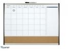 ,<b>Whiteboard Duobord Rexel 58.5x43cm panning gewelfd</b>