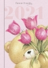 ,<b>Agenda 2021 hallmark forever friends week roze 110 x 155</b>