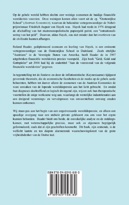 Roland Baader,Geldsocialisme