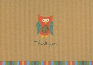 Peter Pauper Staff Owl Thank You Notes