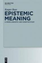 Kasper Boye Epistemic Meaning