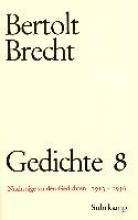 Brecht, Bertolt Gedichte VIII