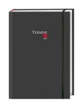 Termine Tages-Kalender classic schwarz A6. 2017
