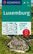 KOMPASS-Karten GmbH , KOMPASS Wanderkarte Luxemburg 1:50 000