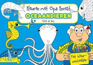 , Kleuren met Opa Knoest - Oceaandieren - 5 ex.