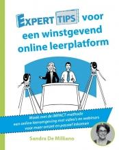 Sandra De Milliano , Experttips voor een online winstgevend leerplatform