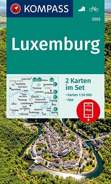 KOMPASS-Karten GmbH,KOMPASS Wanderkarte Luxemburg 1:50 000