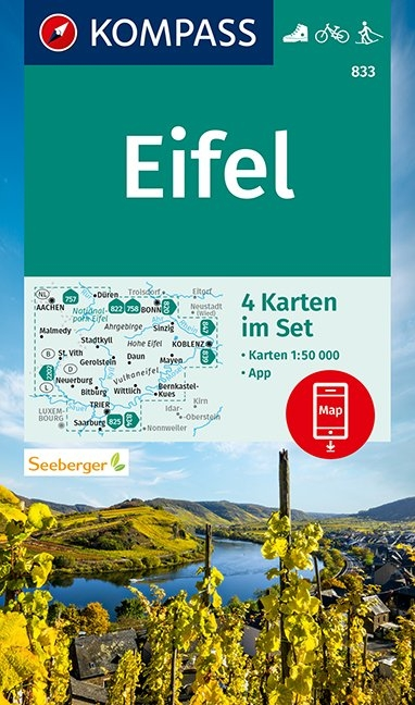 KOMPASS-Karten GmbH,KOMPASS Wanderkarte Eifel 1:50 000