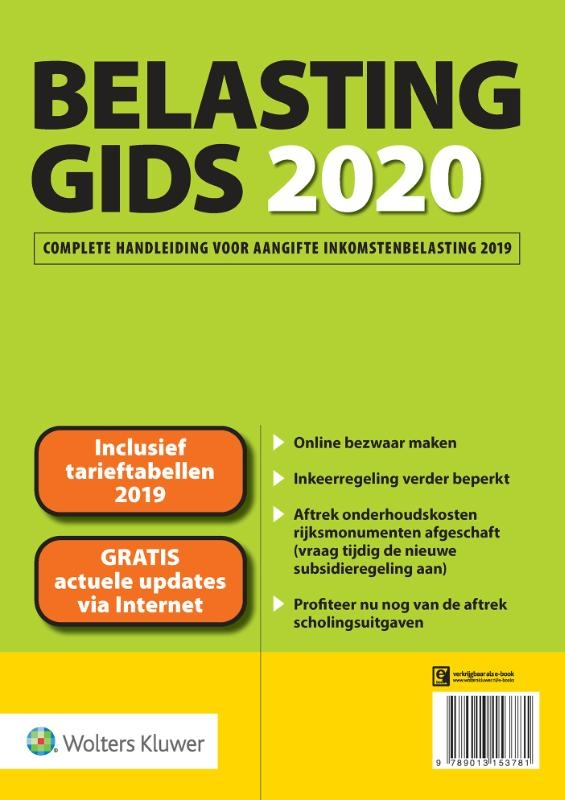 Lisanne Rijff, Gerard Staats, Ciska Wisman,Belastinggids 2020