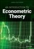 James Davidson,An Introduction to Econometric Theory