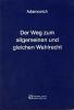 Adamovich, Ludwig,Der Weg zum allgemeinen und gleichen Wahlrecht