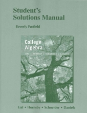 David I. Schneider,   Margaret L. Lial,   John Hornsby Student`s Solutions Manual for College Algebra
