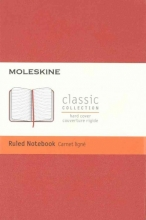 Moleskine Classic Notebook, Pocket, Ruled, Coral Orange