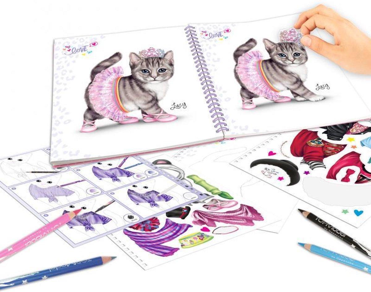 ,Topmodel create your kitty kleurboek