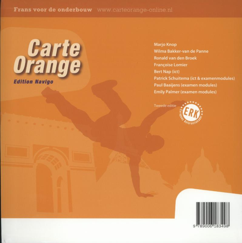 Marjo Knop, Wilma Bakker-van de Panne, Ronald van den Broek, Francoise Lomier,Carte orange 3/4 Vmbo Edition navigo