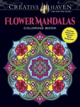 Marty Noble Creative Haven Flower Mandalas Coloring Book
