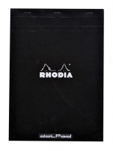 , Schrijfblok Rhodia A4 80vel dots zwart