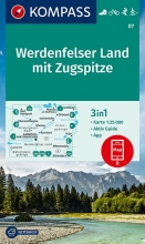 Kompass-Karten Gmbh , KOMPASS Wanderkarte Werdenfelser Land mit Zugspitze 1:25 000
