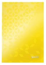 , Noitieboek Leitz WOW A5 lijn geel