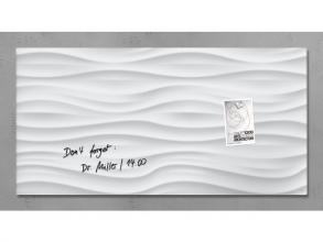 , glasmagneetbord Sigel Artverum 910x460x15mm White Wave