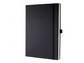 notitieboek Sigel Conceptum Pure hardcover A4 zwart         gelinieerd