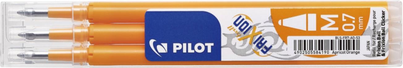 , Rollerpenvulling Pilot Frixion BLS-FR7 0.35mm abrikoos oranje