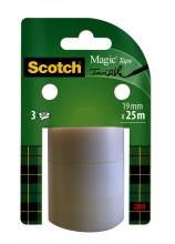 , Plakband Scotch Magic 19mmx25m onzichtbaar