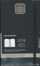 Moleskine 12 Monate Wochen Notizkalender 2018, A5 Hard Cover, Schwarz