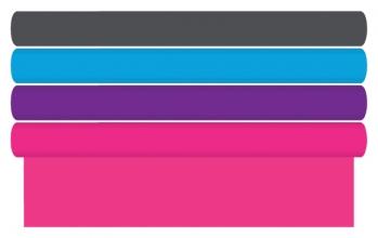 , Kaftpapier effen roze,paars, oranje, groen blauw