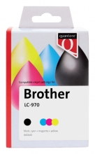 , Inktcartridge Quantore Brother LC-970 zwart + 3 kleuren