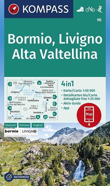 ,Bormio, Livigno, Alta Valtellina 1:50 000