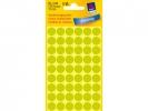 ,Etiket Avery Zweckform 3149 rond 12mm lichtgroen 270stuks