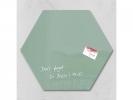 ,glasmagneetbord Sigel Artverum 400x460x15mm zeskantig groen