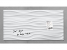 ,glasmagneetbord Sigel Artverum 910x460x15mm White Wave
