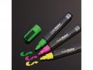 ,krijtmarker Sigel beitelpunt 1-5mm roze/groen/geel