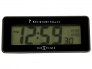 ,Alarmklok NeXtime 14 x 6 cm, plastic, mat zwart, `Lean      Alarm` Radio Controlled