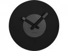 ,Wandklok NeXtime dia. 39.5 cm, hout, zwart, `In touch`