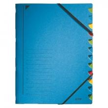 , Sorteermap Leitz 3912 12-delig karton blauw