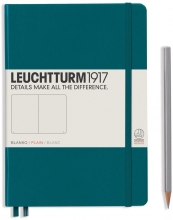 Lt359706 , Leuchtturm pocket notitieboek 90x150 blanco pacific blauwgroen