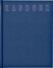 , Kasboek 165x210mm 96blz 2 kolommen blauw