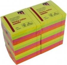 , Memoblok quantore 75x75mm neon kleuren assorti