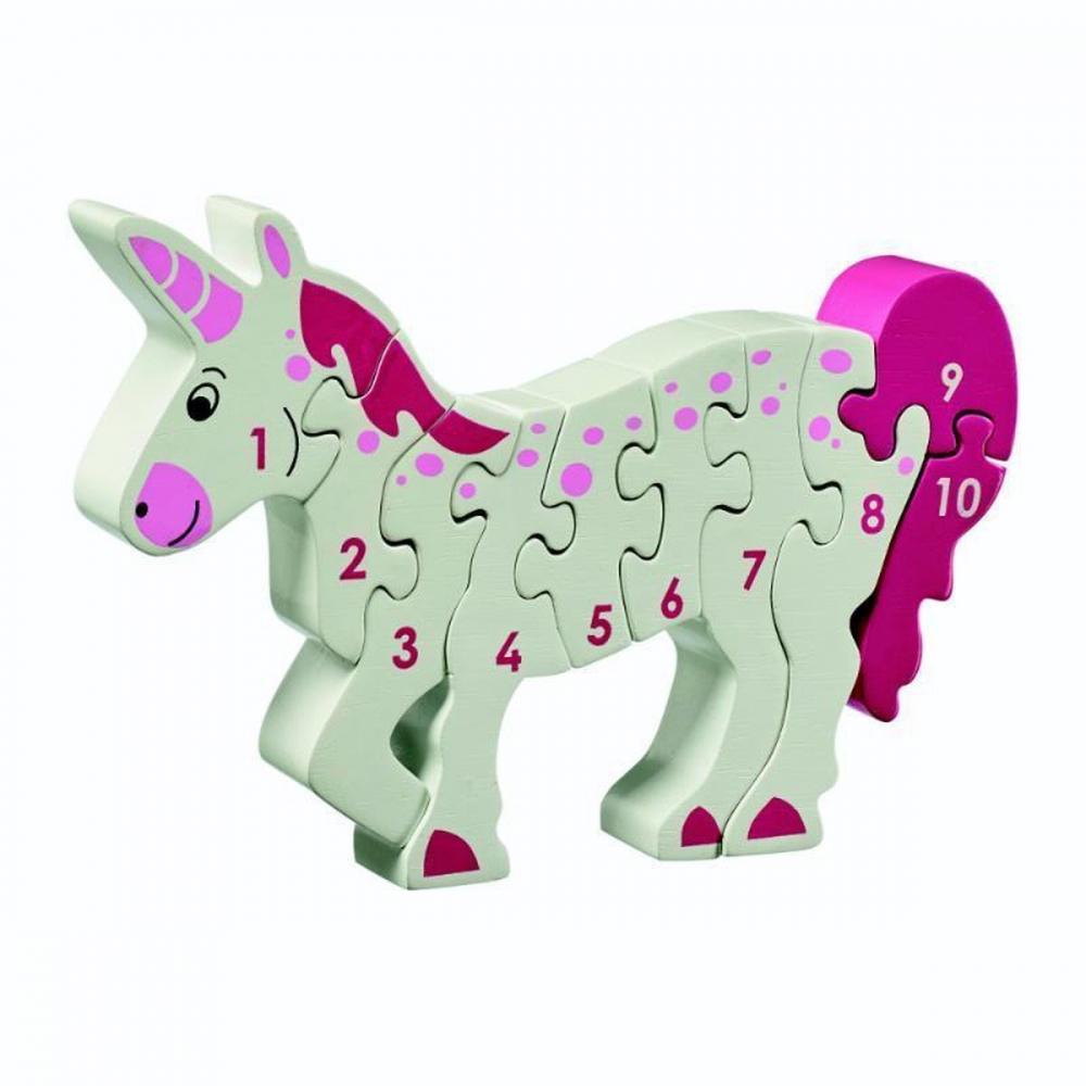 ,Houten puzzel Unicorn - Leren tellen 1-10 - Lanka Kade