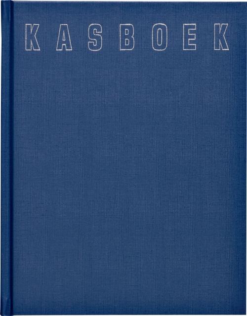 ,Kasboek 165x210mm 96blz 2 kolommen blauw