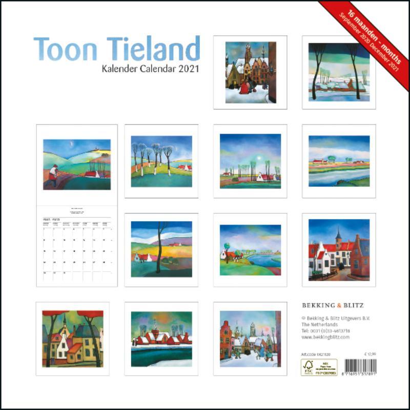 ,Toon Tieland maandkalender 2021