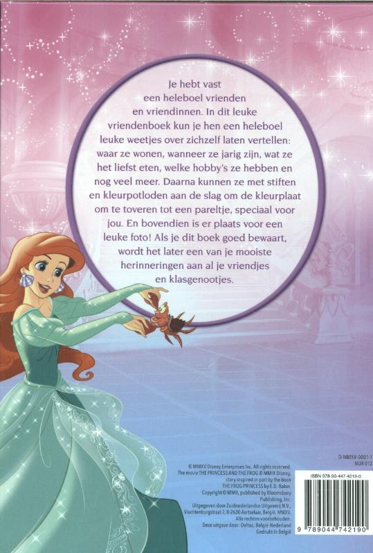 Disney Pixar,Disney Prinses vriendenboek